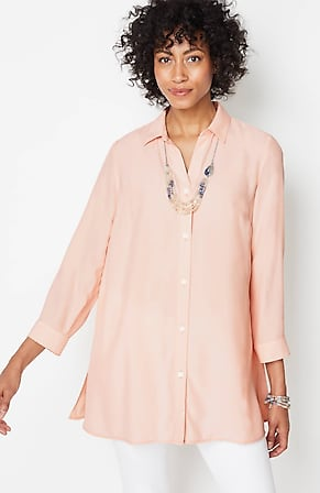 Image for RelaxedWoven-Rayon Tunic