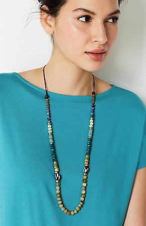 Image for Shades Of Nature Single-Strand Necklace