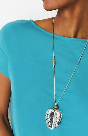 Image for Shades Of Nature Palm Leaf Pendant