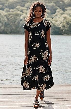 Image for Button-Back Shirttail Midi Dress