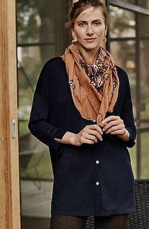 Image for Easy Button-Front Knit Tunic