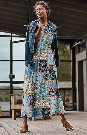 Image for Arcadian Printed Maxi Dress
