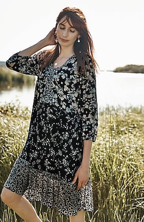 Image for Lakeside Blooms Mixed-Print Dress