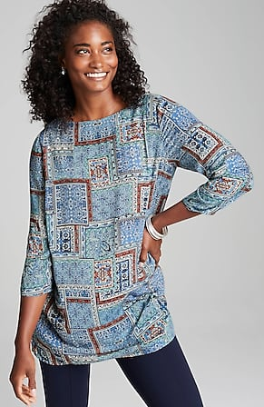 Image for Heirloom Patchwork-Print Tunic