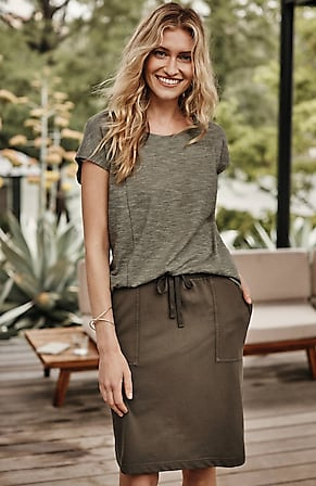 Image for Seamed Cap-Sleeve Tee