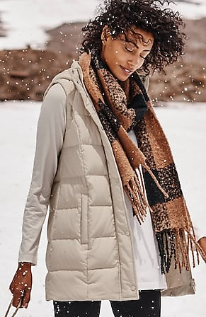 Image for Hooded Down Puffer Vest