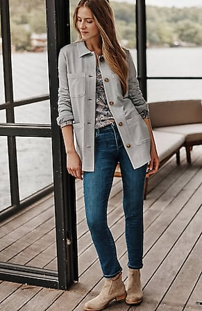 Image for Garment-Dyed Knit Utility Jacket