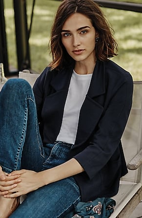 Image for Twill Knit A-Line Jacket