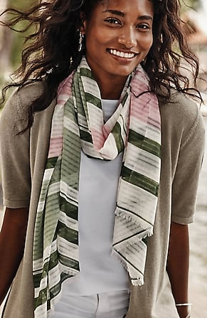 Image for Shadow-Stripe Scarf
