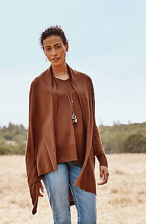 Image for Ultra-Luxe Silk-Blend Three-Way Wrap