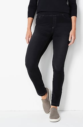 Image for Pure Jill 5-Pocket Knit Pull-On Jeans