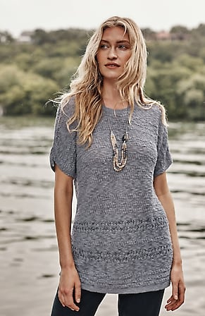 Image for Mixed-Texture Scoop-Neck Sweater