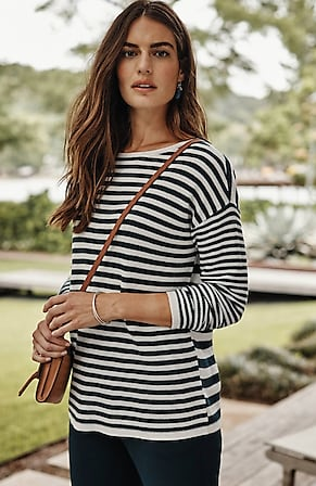 Image for Relaxed Mixed-Stripes Sweater