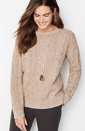 Image for Stonewashed Cable-Knit Sweater