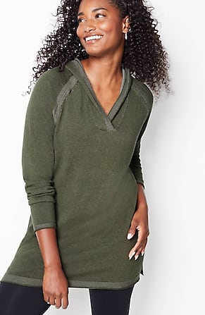 Image for Plaited Hooded Sweater Tunic