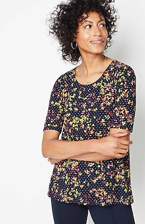 Image for Wearever Softly Shaped Elbow-Sleeve Top