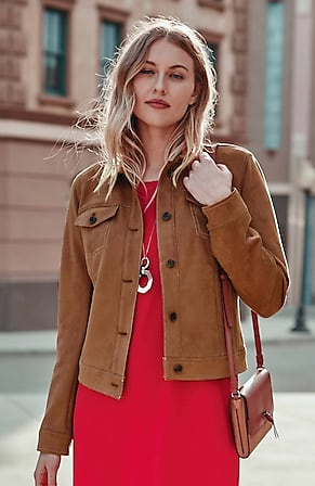 Image for Wearever Luxe Faux-Suede Jacket