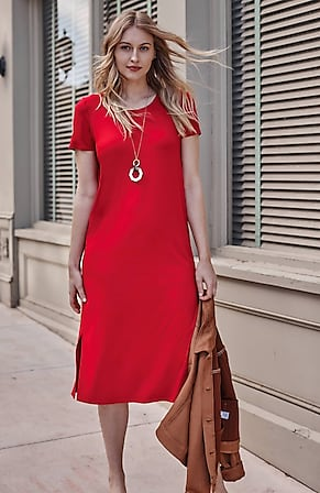 Image for Wearever Pleated-Back Midi Dress