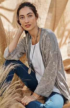 Image for Pure Jill Relaxed Jacquard Cardi