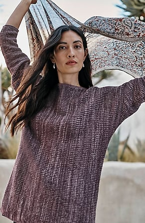 Image for Pure Jill Ribbed High-Low Sweater