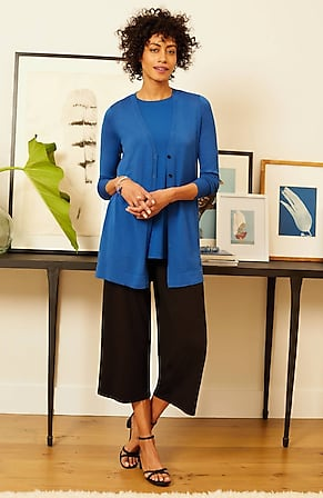 Image for Wearever Button-Front V-Neck Cardi