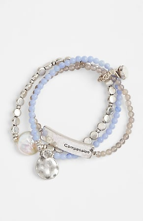 Image for Compassion Fund Pearl & Bead Stretch Bracelet