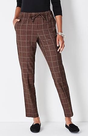 Image for Tie-Waist Slim-Ankle Pants