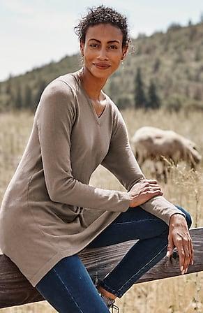Image for Highland V-Neck Sweater Tunic
