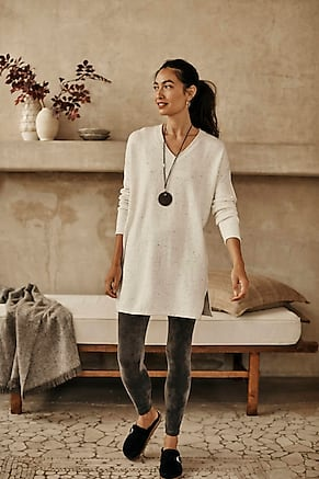 Image for Pure Jill  Relaxed V-Neck Sweater Tunic
