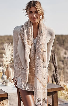 Image for Compassion Fund Embroidered Jacquard Scarf