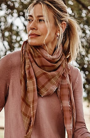 Image for Patchwork-Plaid Square Scarf