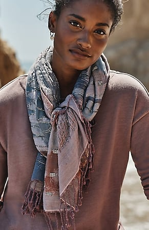 Image for Pure Jill Beaded Jacquard Scarf