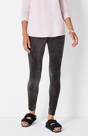 Image for Pure Jill Crushed-Velour Smooth-Waist Leggings