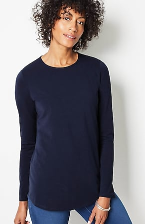 Image for Pure Jill Long-Sleeve Shirttail Tee