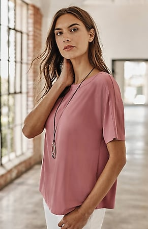 Image for Wearever Seamed Boat-Neck Top