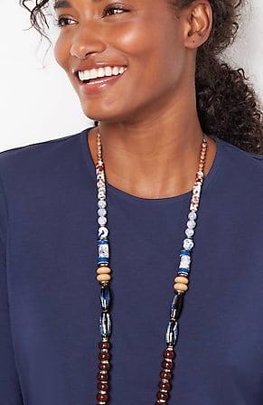 Image for Pure Jill Artisanal Ceramics Long Necklace