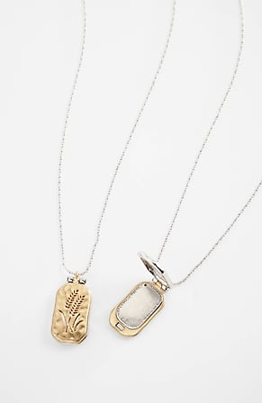 Image for Compassion Fund Two-Sided Floral Locket Necklace