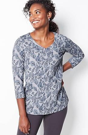 Image for Pure Jill Kalamkari-Print Knit Top