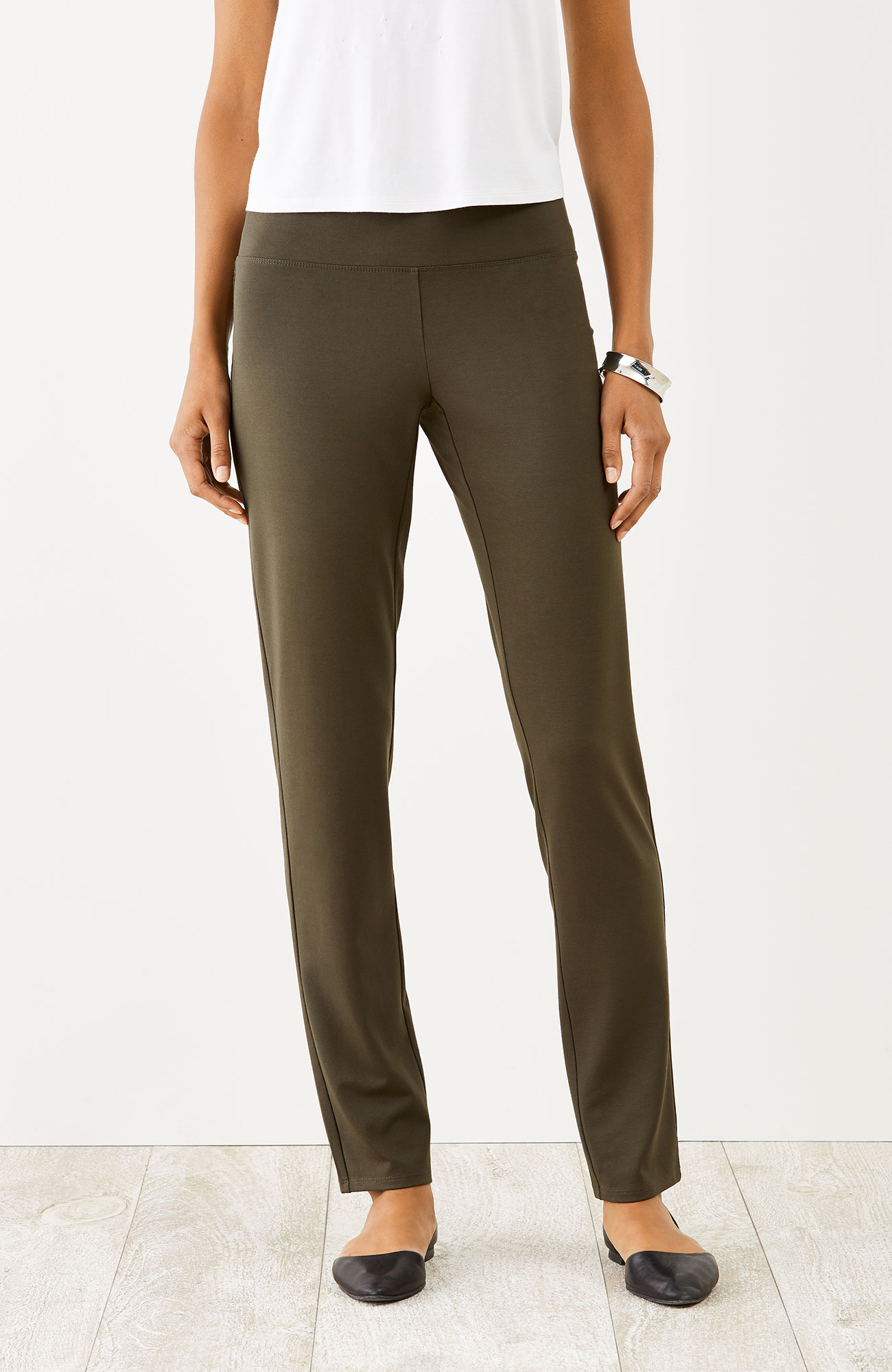 Wearever Smooth-Fit slim-leg pants
